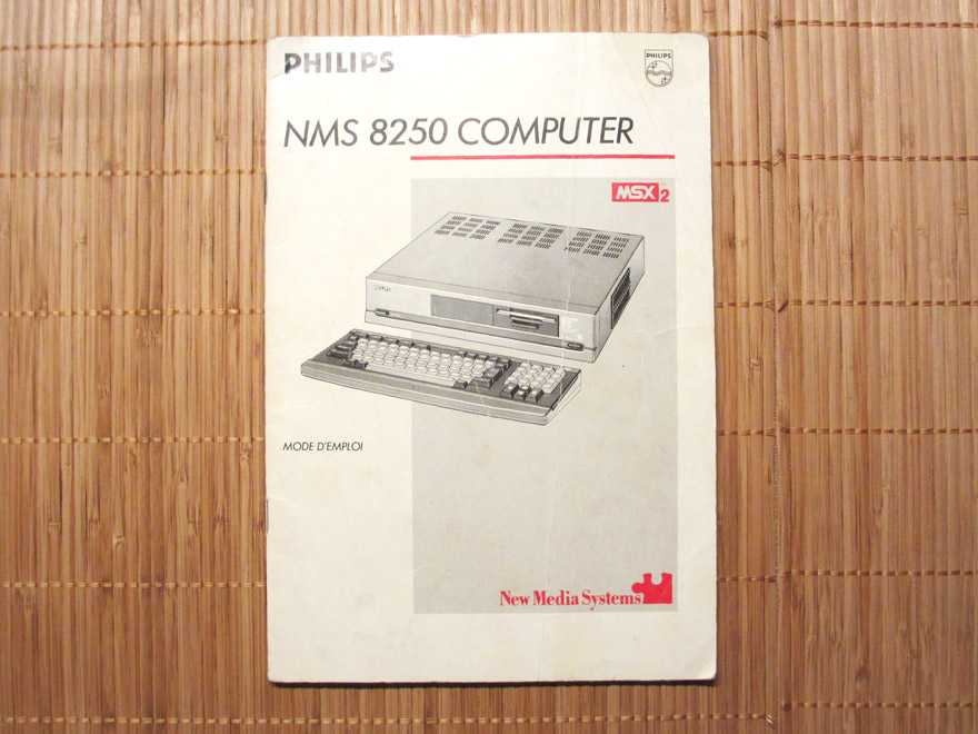 Notice - Philips - NMS 8250 - MSX2