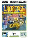 Publicité pour le jeu l'Héritage - Panique à Las Vegas, édité par Infogrames en 1986